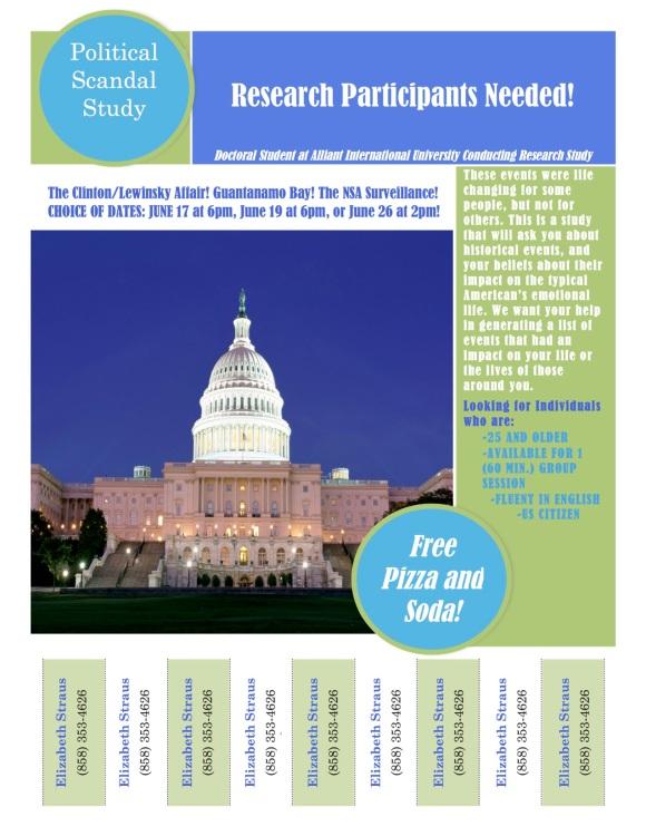 Political Scandal Pilot Study June 11, 2015
